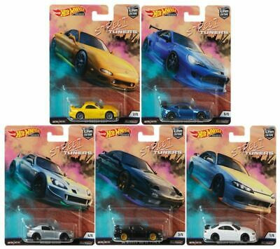 Hot Wheels - Set Street Tuners 2019 - Completo 05 Miniaturas - HW Premium - Car Culture