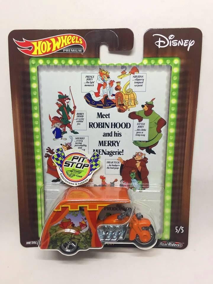 Hot Wheels - 3D-Livery Laranja - Disney - Meet Robin Hood and his Merry Menagerie