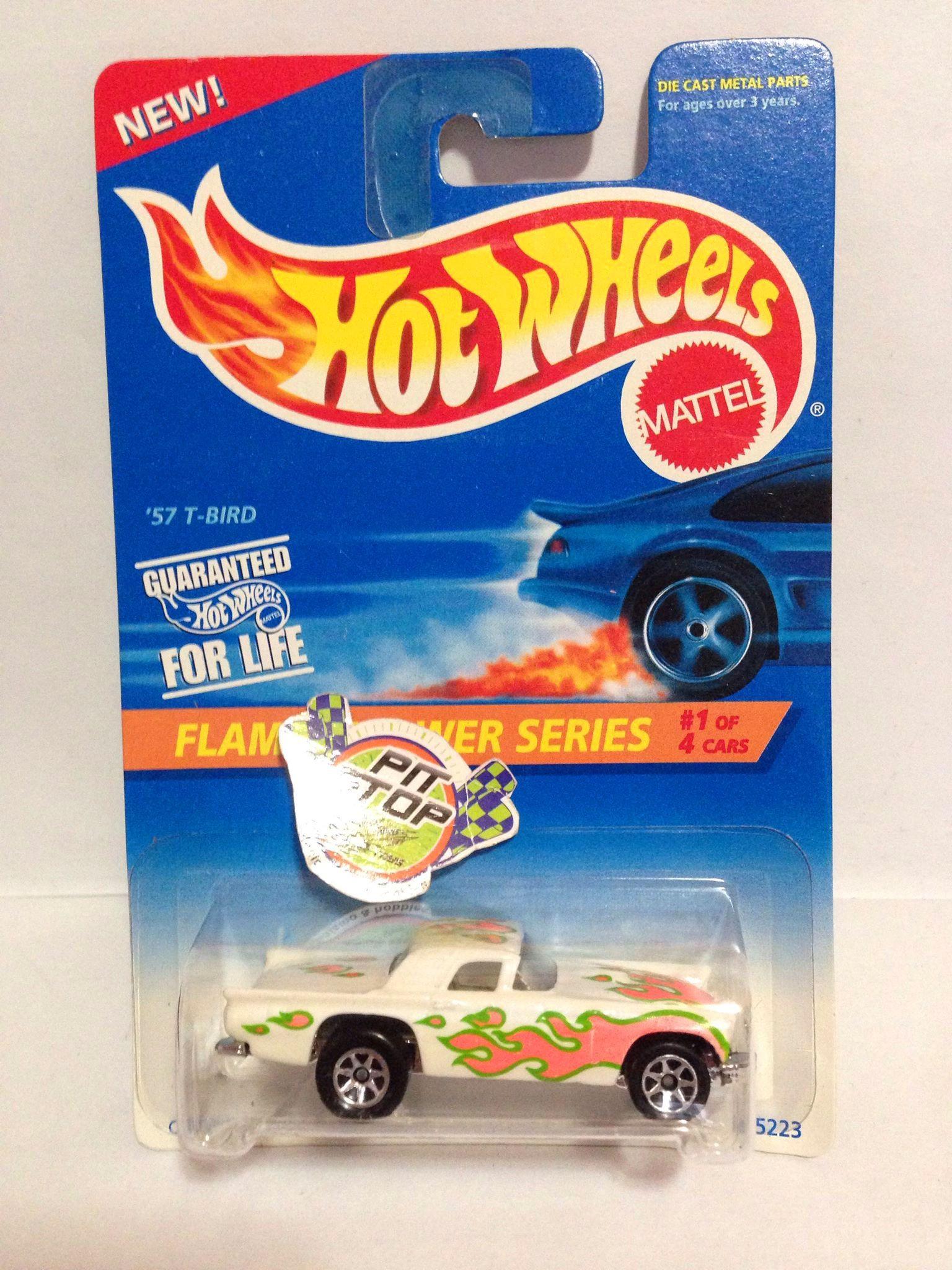 Hot Wheels - 57 T-Bird Branco - Mainline 1996