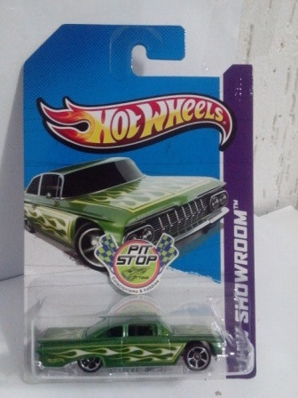 Hot Wheels - 59 Chevy Impala Verde - Mainline 2013