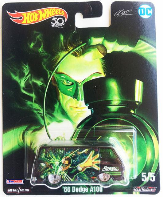 Hot Wheels - 66 Dodge A100 Preto - Green Lantern - Lanterna Verde - DC Comics