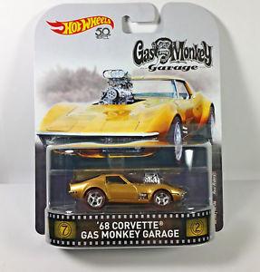 Hot Wheels - 68 Corvette Gas Monkey Garage Dourado - Gas Monkey - Retro 2018