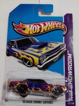 Hot Wheels - 69 Dodge Coronet Superbee Azul - Mainline 2013