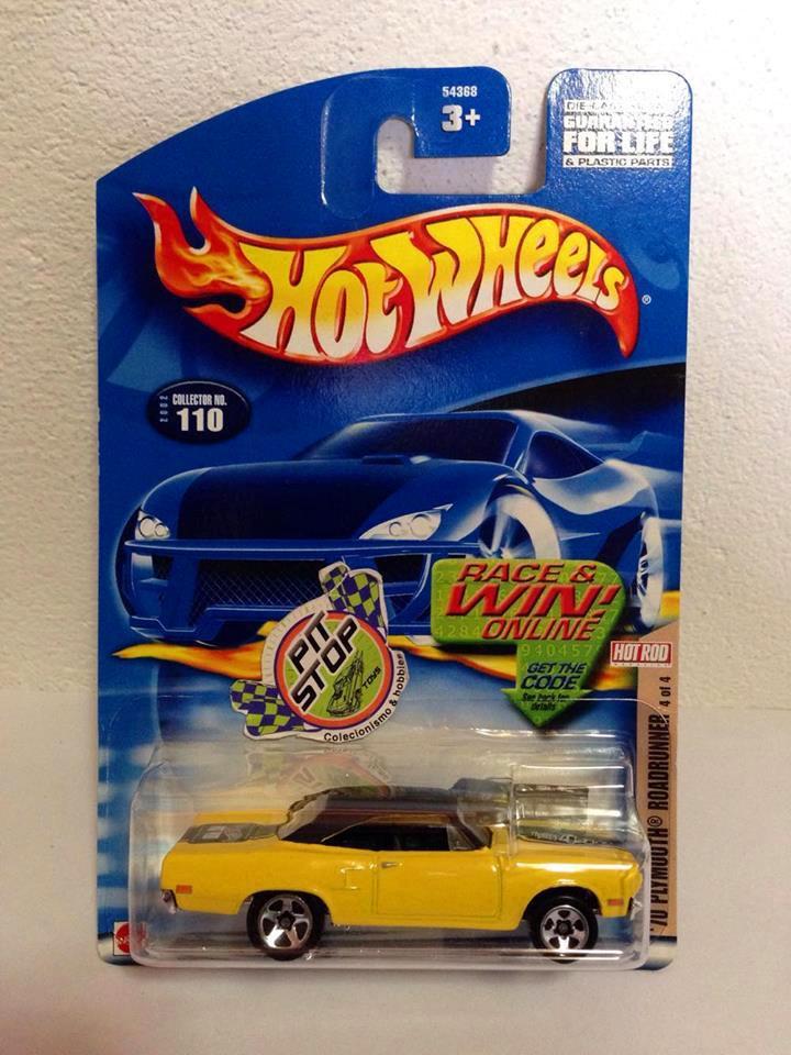Hot Wheels - 70 Plymouth Roadrunner Amarelo - Mainline 2002