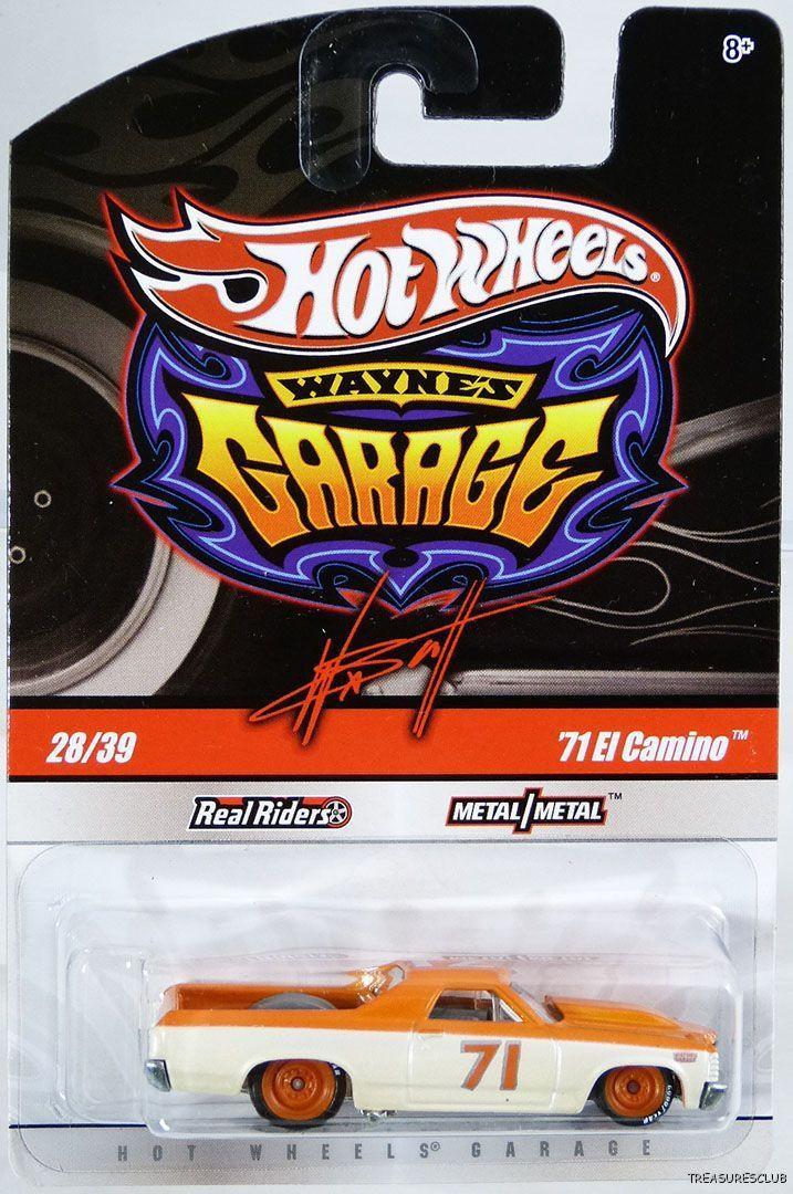 Hot Wheels - 71 El Camino Creme/Laranja - Garage