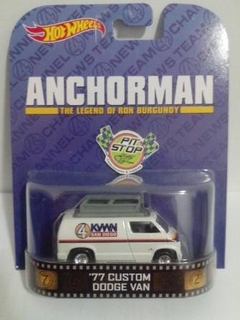 Hot Wheels - 77 Custom Dodge Van - Anchorman - Retro