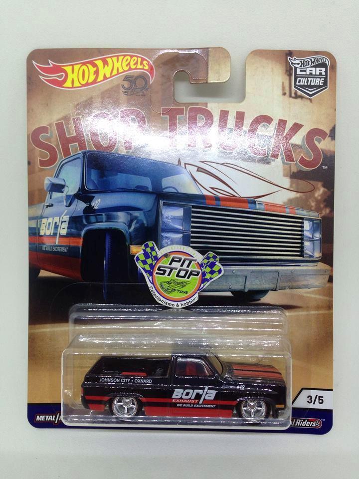 Hot Wheels - 83 Chevy Silverado Preto - Shop Trucks - Car Culture