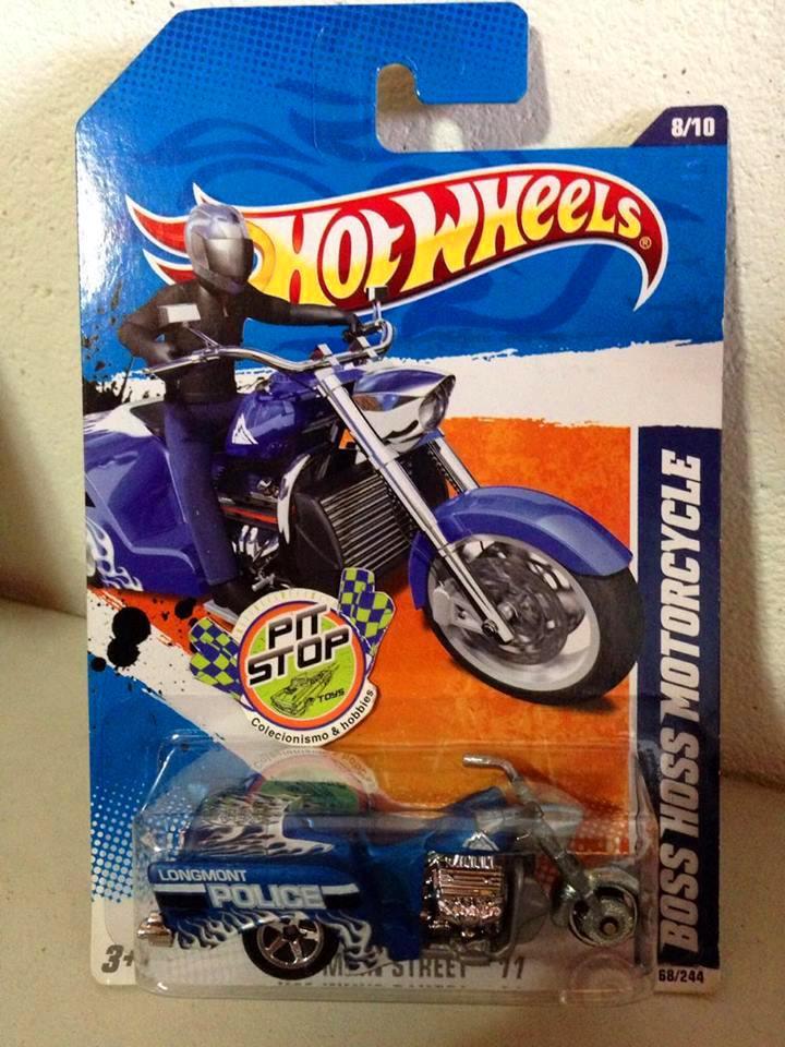 Hot Wheels - Boss Hoss Motorcycle Azul - Mainline 2011