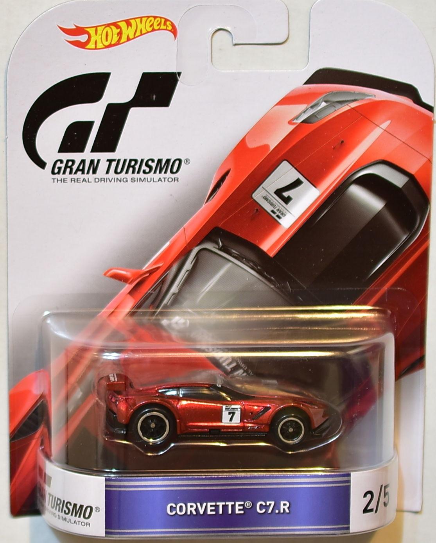 Hot Wheels - Corvette C7.R Vermelho - Gran Turismo - Retro