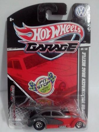 Hot Wheels - Custom 56 Volkswagen Drag Beetle Cinza - Garage