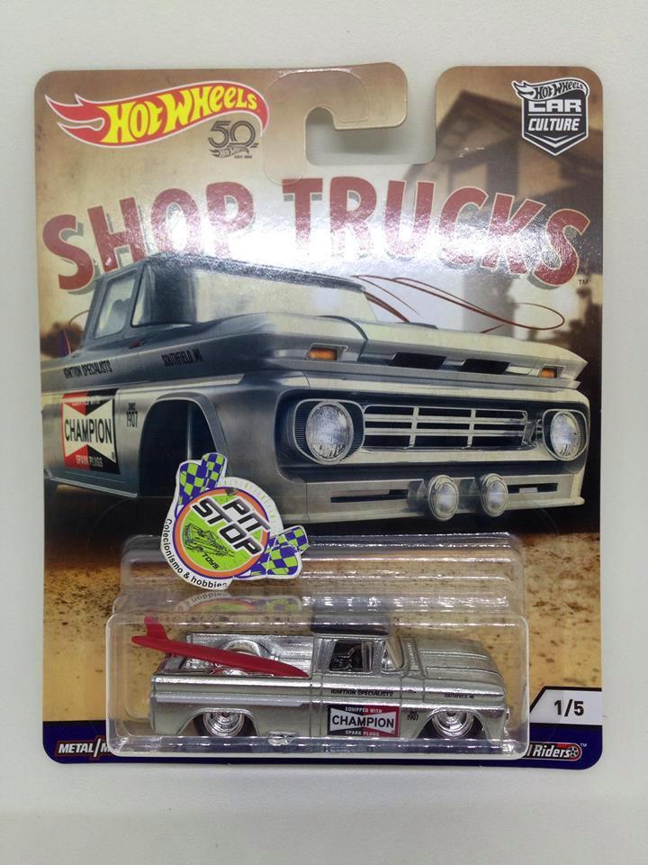 Hot Wheels - Custom 62 Chevy Pickup Prata - Shop Trucks - Car Culture