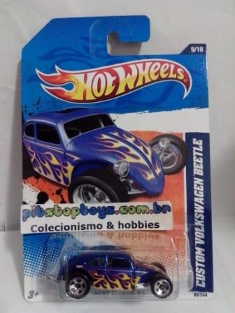 Hot Wheels - Custom Volkswagen Beetle Azul - Mainline 2011