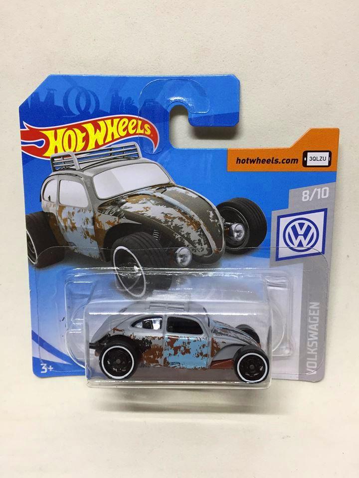 Hot Wheels - Custom Volkswagen Beetle Azul - Mainline 2019