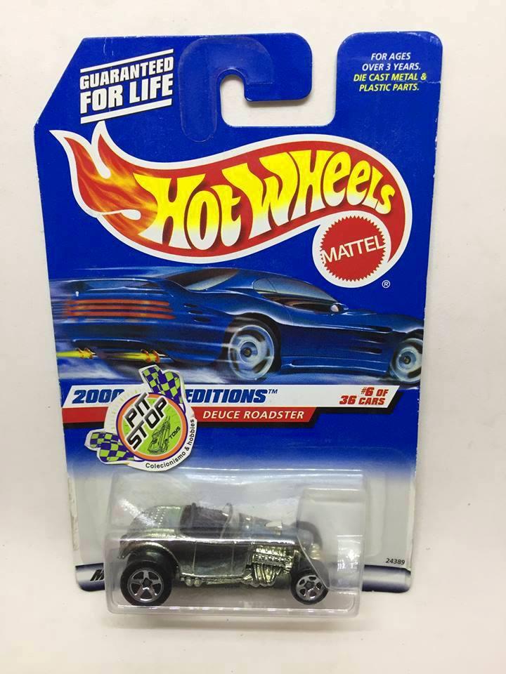 Hot Wheels - Deuce Roadster Prata - Mainline 2000