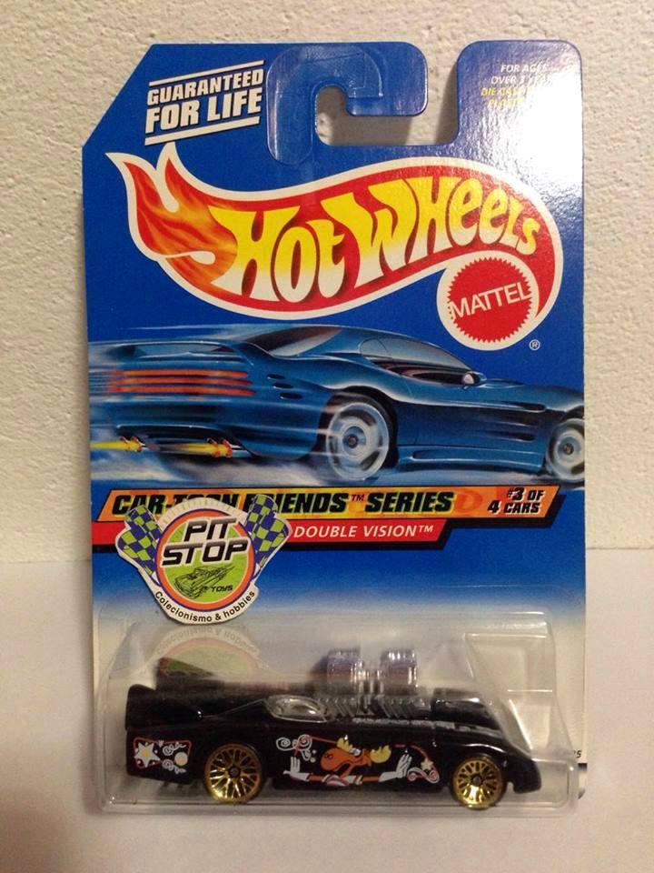 Hot Wheels - Double Vision Preto - Mainline 1999