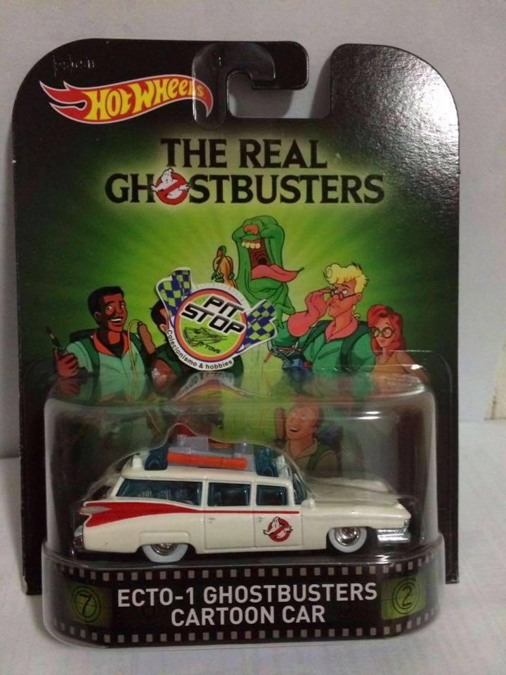 Hot Wheels - Ecto-1 Ghostbusters Cartoon Car - Retro