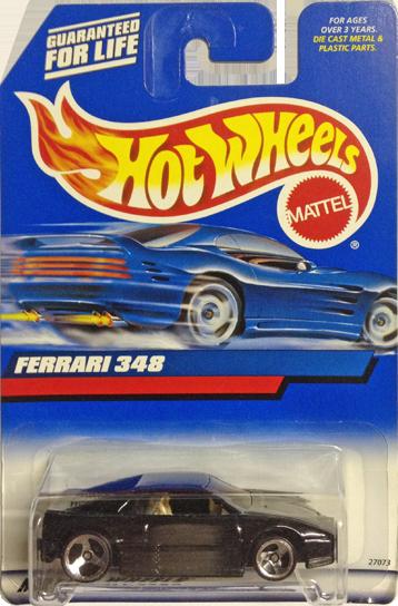 Hot Wheels - Ferrari 348 Preta - Mainline 2000