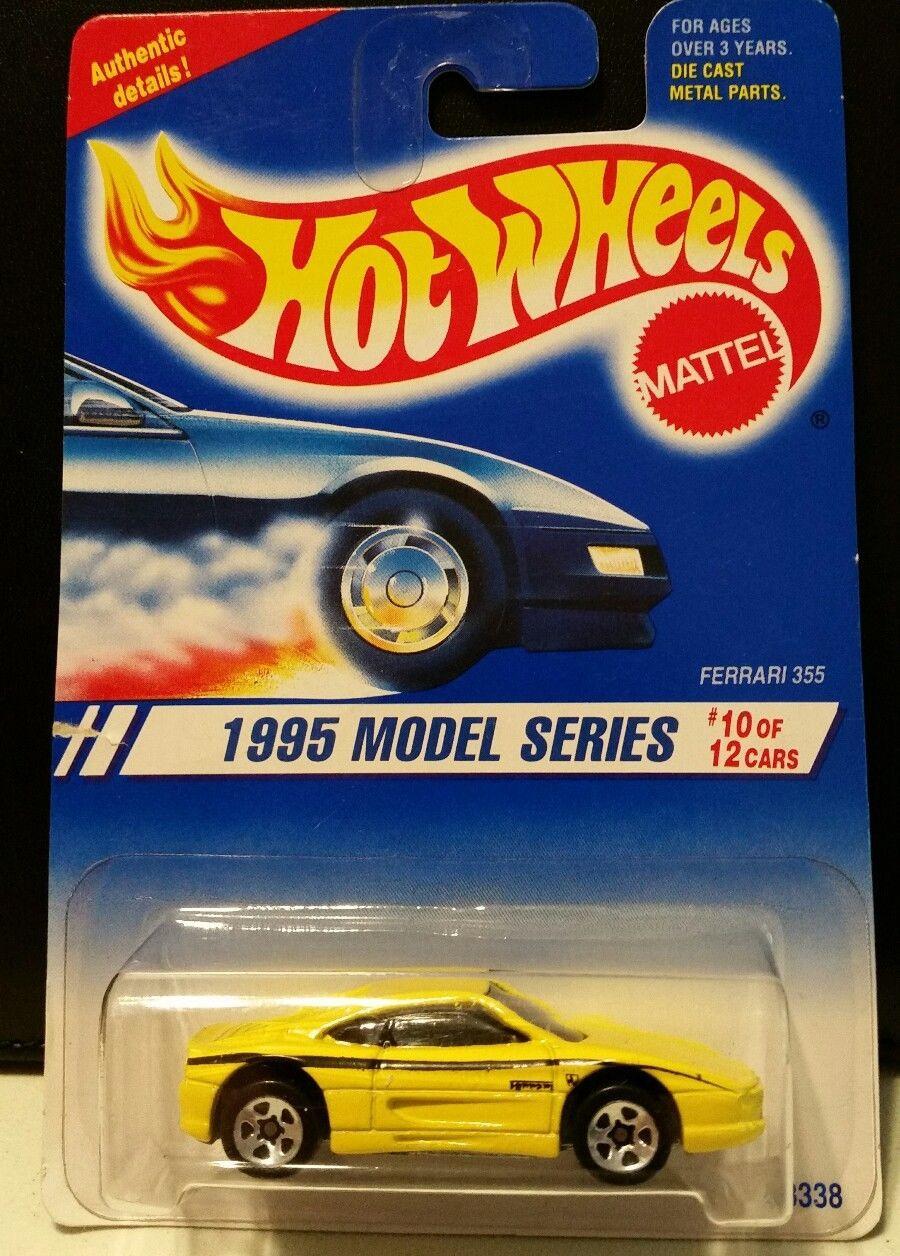 Hot Wheels - Ferrari 355 Amarela - Roda 5SP - Mainline 1995