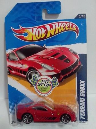 Hot Wheels - Ferrari 599XX Vermelho - Mainline 2012