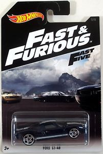 Hot Wheels - Ford GT-40 Azul - Fast & Furious - Fast Five