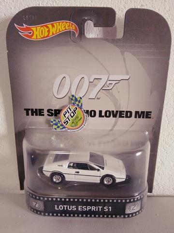 Hot Wheels - Lotus Esprit S1 - The Spy Who Loved Me - 007 - Retro