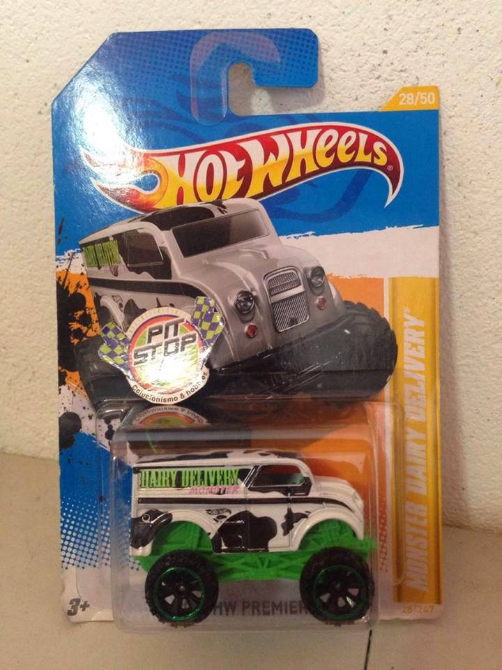 Hot Wheels - Monster Dairy Delivery Branco - Mainline 2012