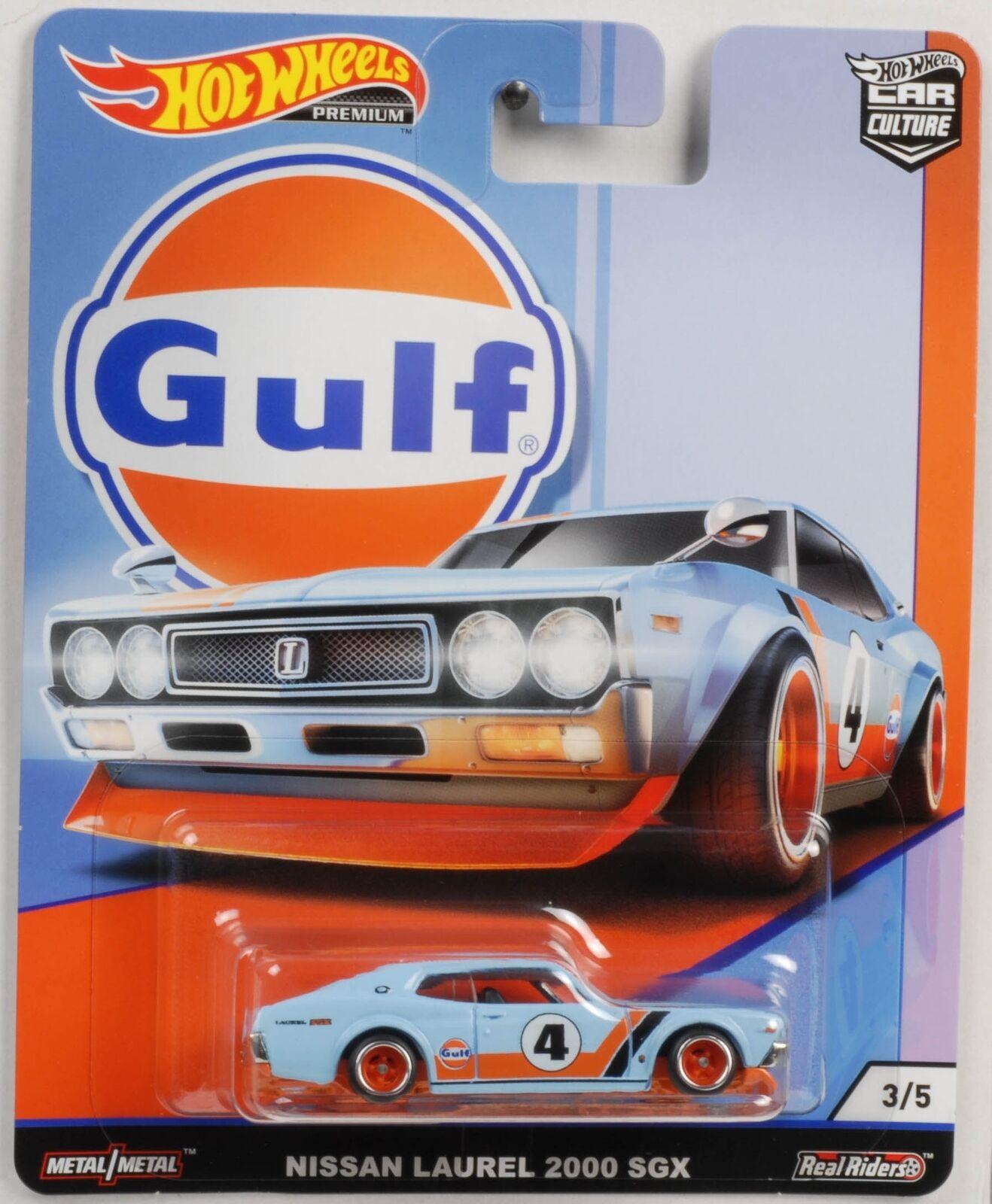 Hot Wheels - Nissan Lauren 2000 GSX Azul - Gulf