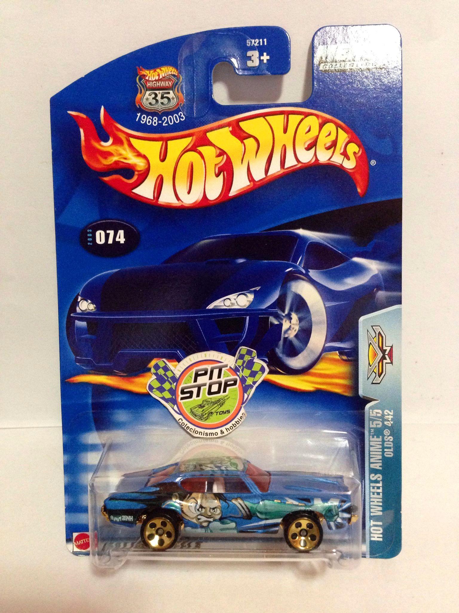 Hot Wheels - Olds 442 Azul - Mainline 2003