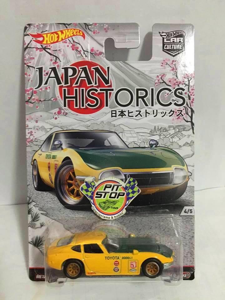 Hot Wheels - Toyota 2000 GT Amarelo - Japan Historics  - Car Culture