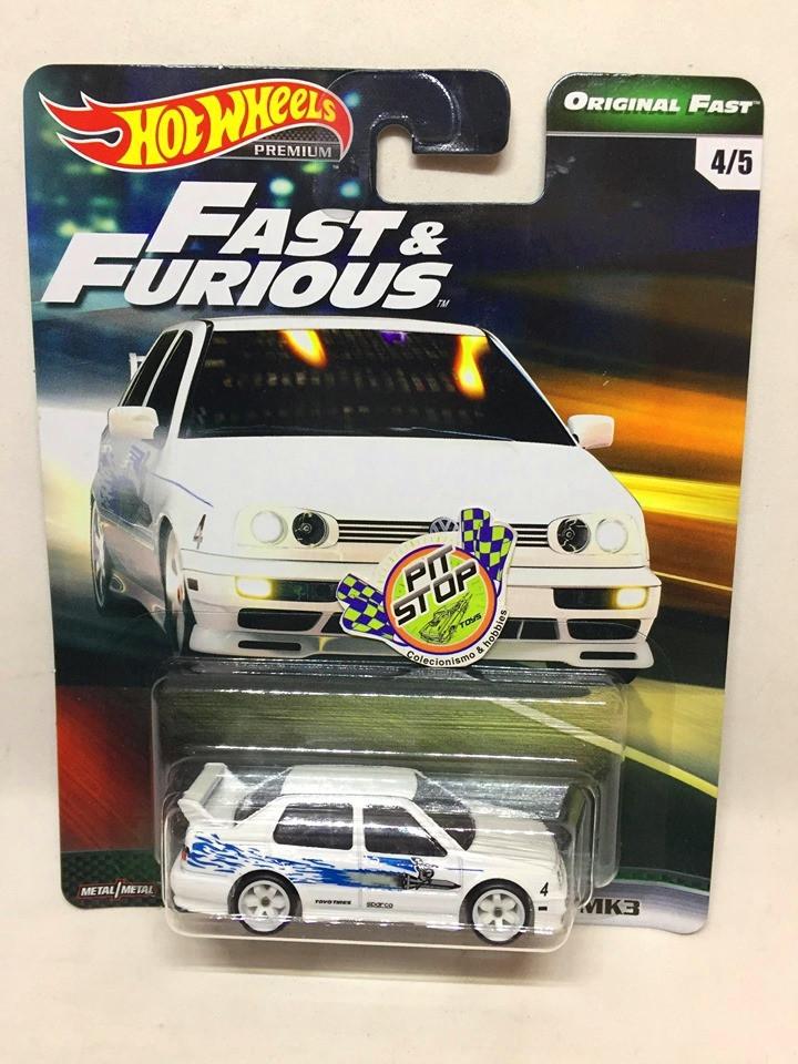 Hot Wheels - Volkswagen Jetta MK3 Branco - Fast & Furious - Original Fast - HW Premium