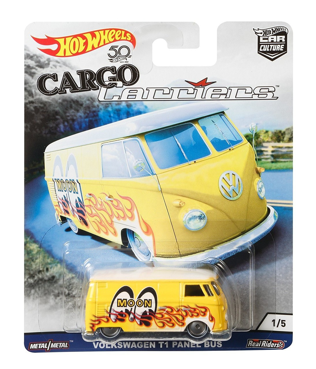 Hot Wheels - Volkswagen T1 Panel Bus Moon Eyes - Cargo Carriers - Car Culture