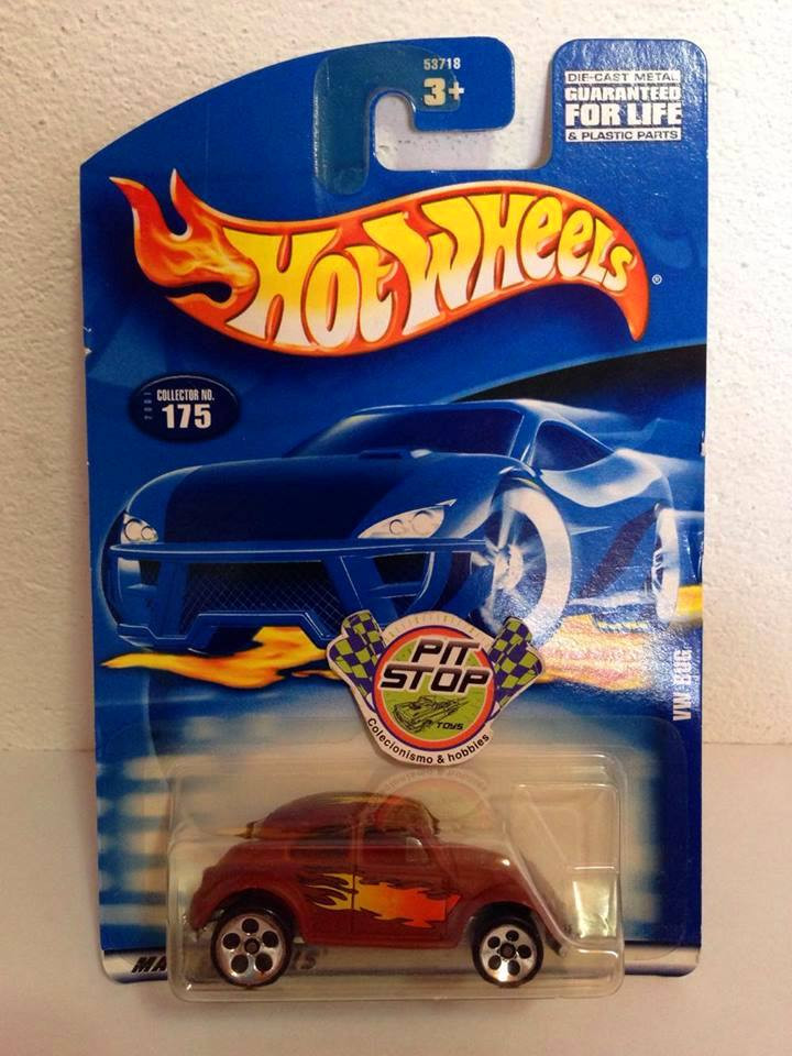Hot Wheels - VW Bug Marrom - Mainline 2001