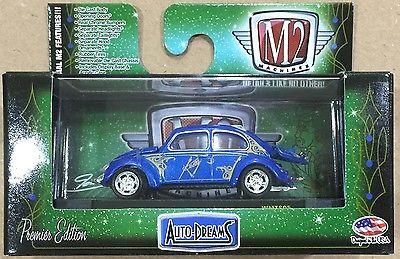 M2 Machines - 1953 VW Beetle Deluxe USA Model Azul - Auto-Dreams - Exclusivo Walmart