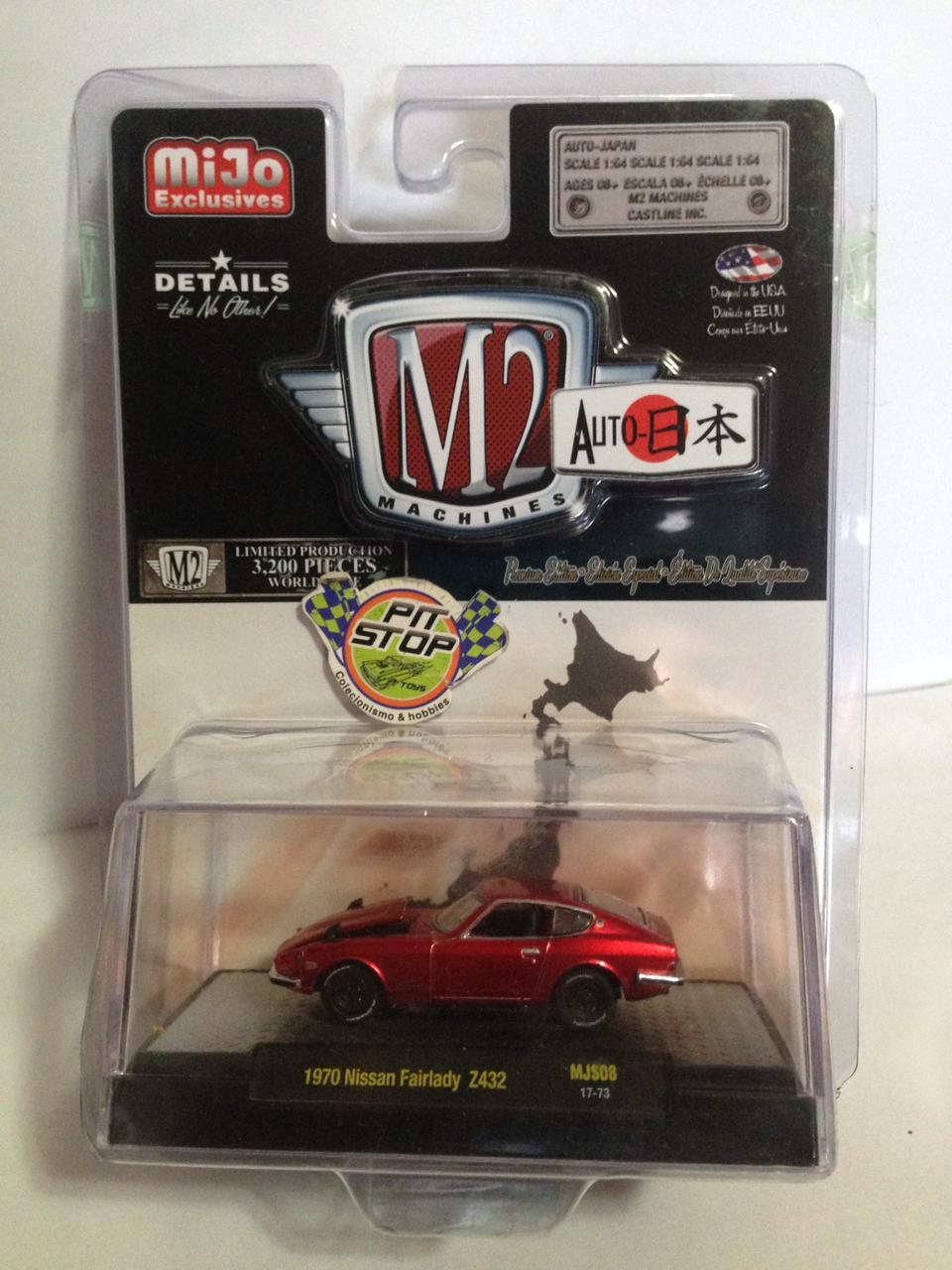 M2 Machines - 1970 Nissan Fairlady Vermelho - Auto Japan - MiJo Exclusives