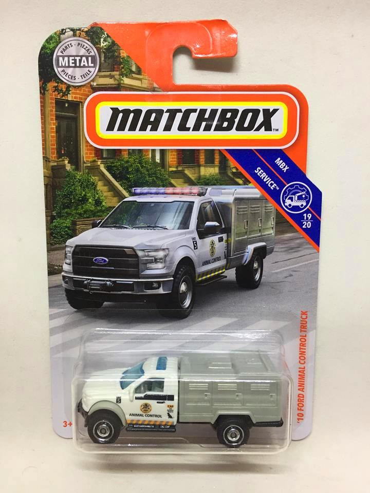 Matchbox - 10 Ford Animal Control Truck Branco - MBX Service - 2019
