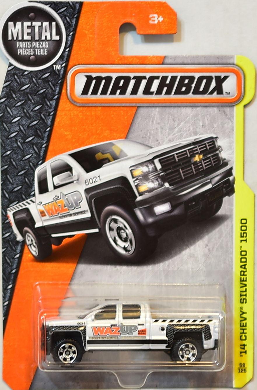 Matchbox - 14 Chevy Silverado 1500 Branco - Básico 2017