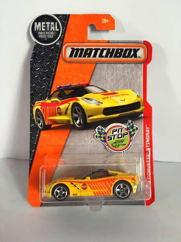 Matchbox - 15 Corvette Stingray Amarelo - Básico 2016