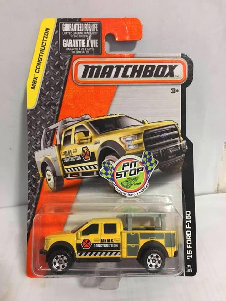 Matchbox - 15 Ford F-150 Amarelo - Básico 2016