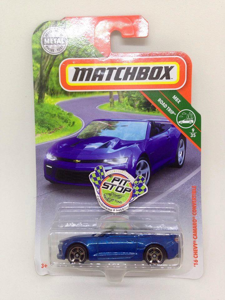 Matchbox - 16 Chevy Camaro Convertible Azul - MBX Road Trip - Básico 2018