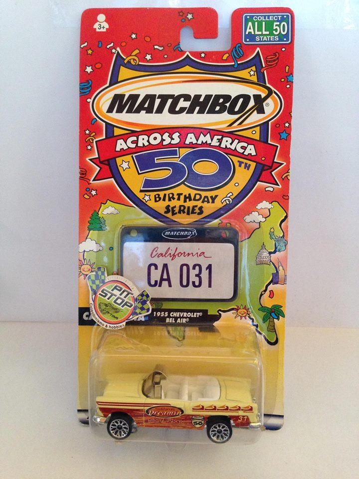 Matchbox - 1955 Chevrolet Bel Air Branco - Across America - 50 Birthday Series
