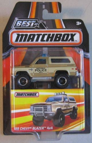 Matchbox - 89 Chevy Blazer 4x4 Bege - Best of Matchbox