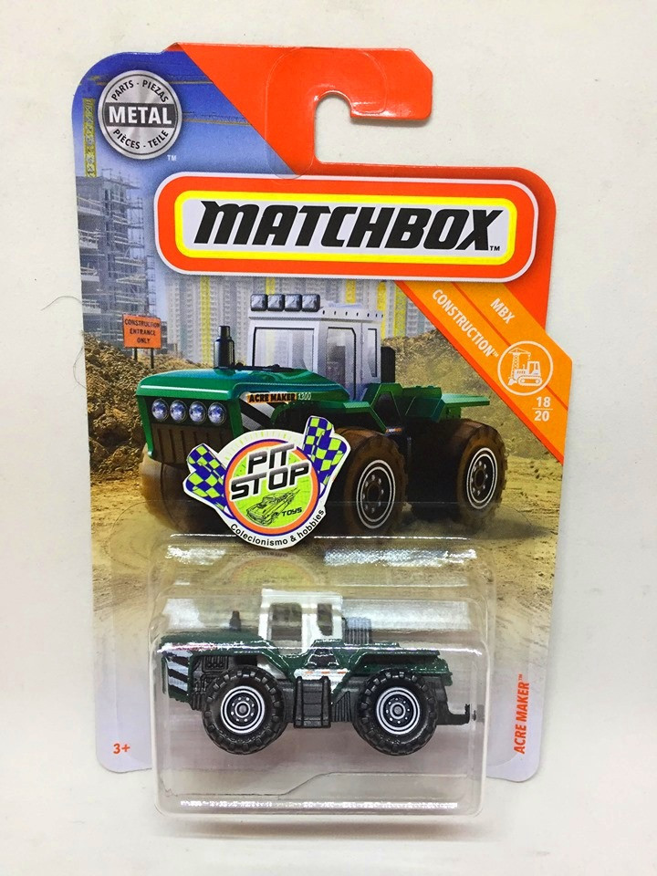 Matchbox - Acre Maker Verde - MBX Construction - Básico 2019