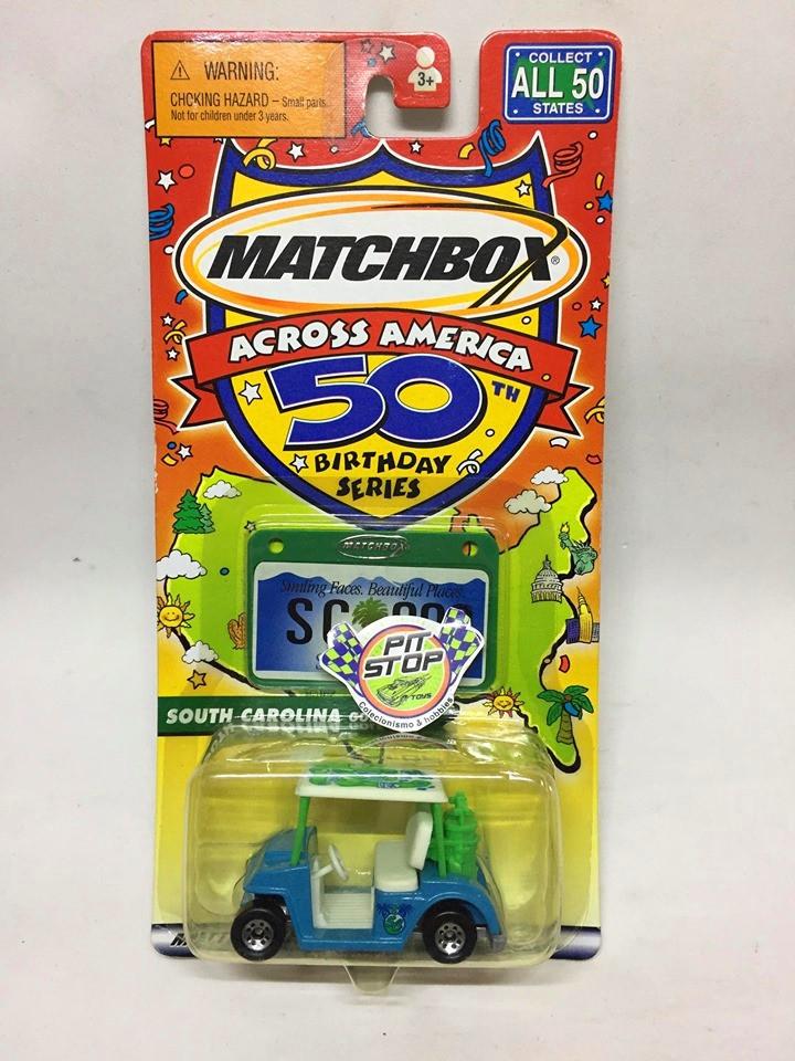Matchbox - Golf Cart Azul - Across America 50 Birthday Series