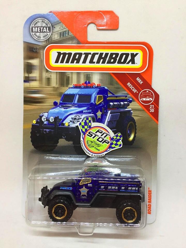 Matchbox - Road Raider Azul - MBX Rescue - Básico 2018