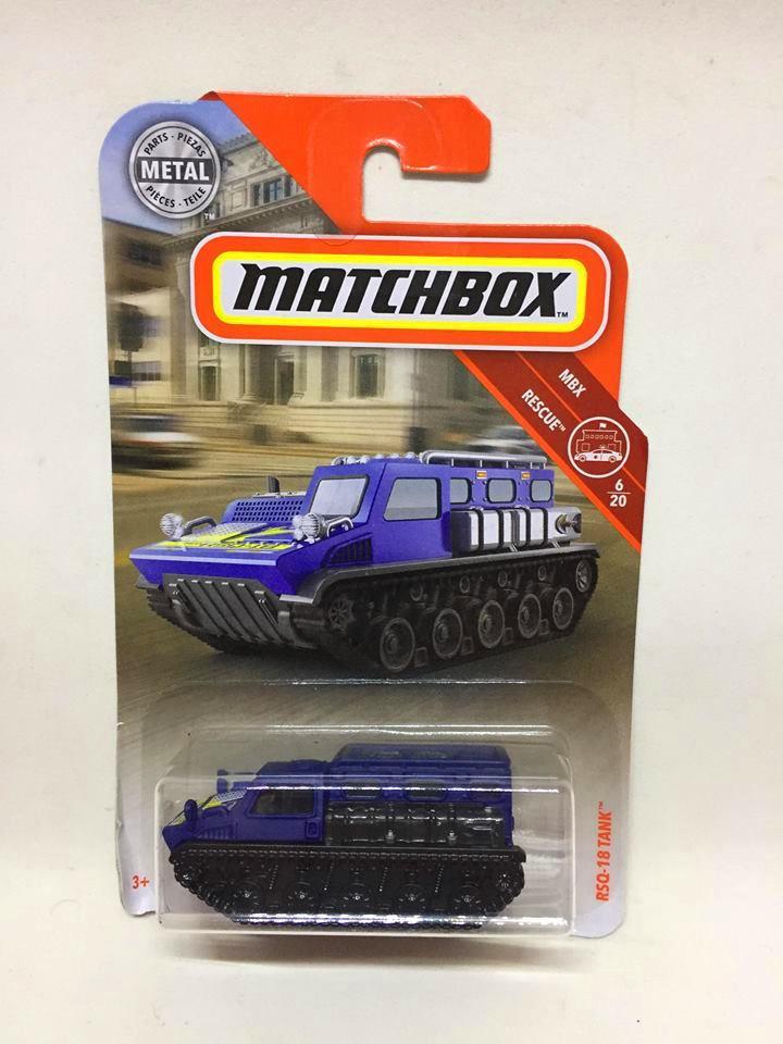 Matchbox - RSQ-18 Tank Azul - MBX Rescue - 2019