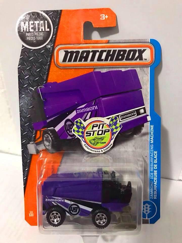 Matchbox - Zamboni Ice Resurfacing Machine Roxo - Básico 2017