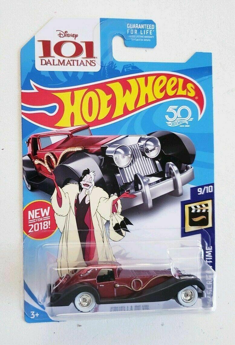 Hot Wheels - Cruella de Vil Vermelho - Treasure Hunt Super 2018 - 101 Dalmatas