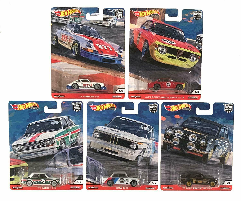 Hot Wheels - Conjunto Car Culture N - Door Slammers - Set Completo 5 Miniaturas