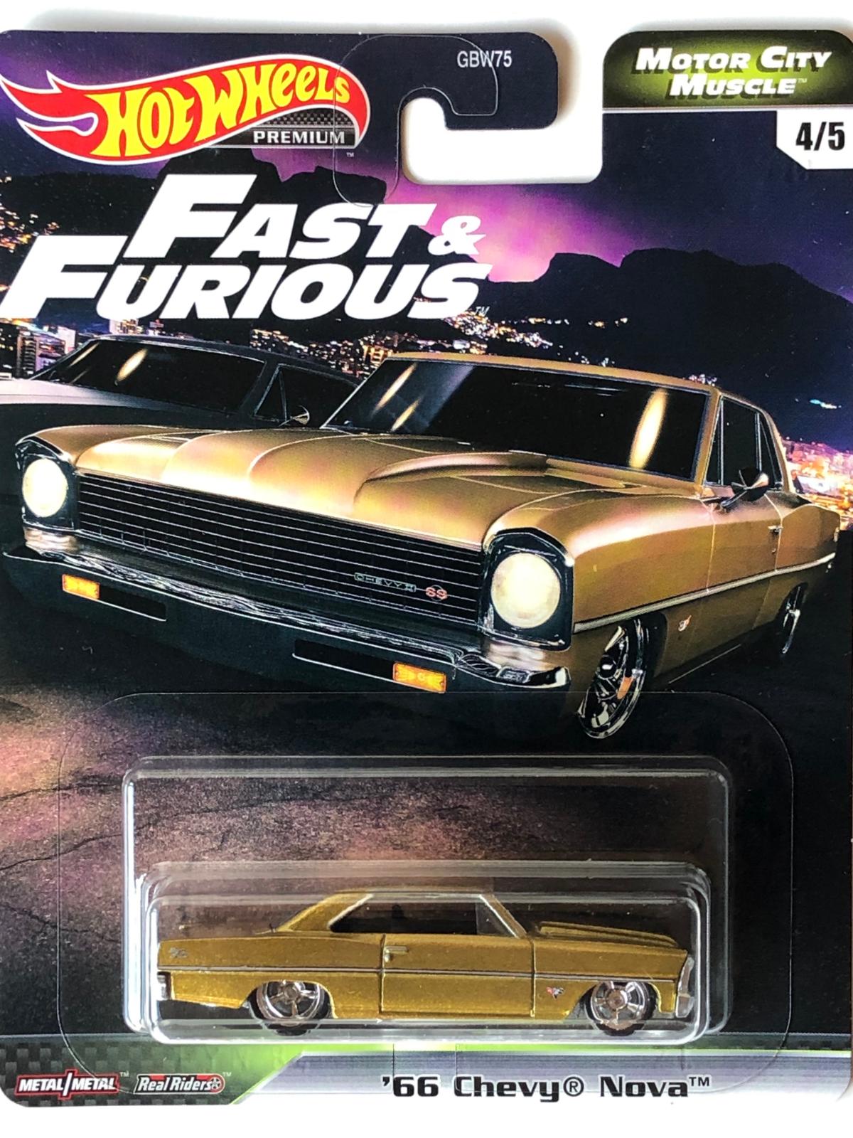 Hot Wheels - 66 Chevy Nova - Motor City Muscle - Fast and Furious - Velozes e Furiosos