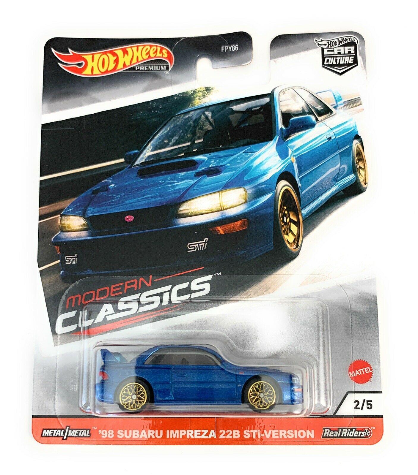 Hot Wheels - 98 Subaru Impreza 22B STI-Version Azul - Modern Classics 2020 - Car Culture